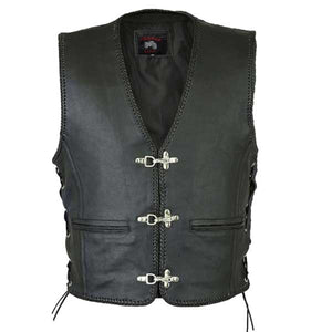 Magnum Premium Grade Leather Motorcycle Vest.