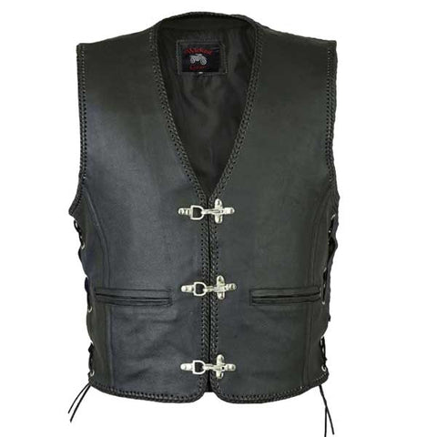 Image of Magnum Premium Grade Leather Motorcycle Vest.