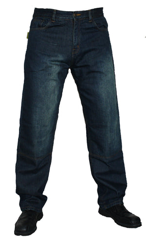 Vintage Wash Motorcycle Jeans With DUPONT™ KEVLAR® FIBER