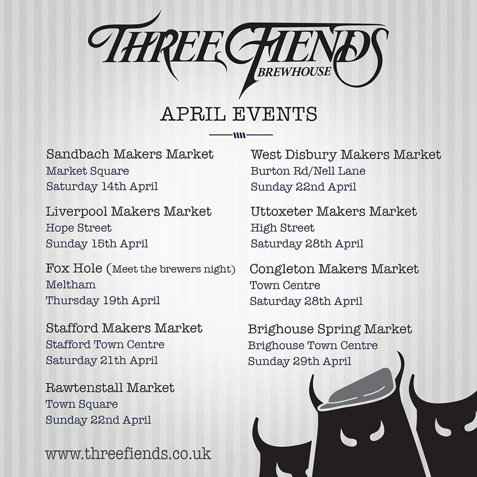 Three fiends on tour three fiends brewhouse three fiends april events stopboris Choice Image