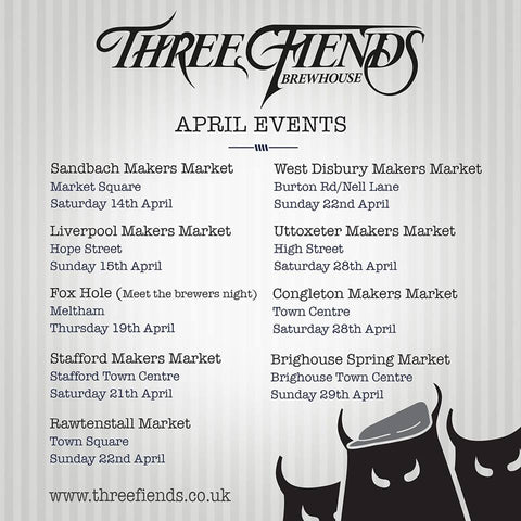 Three Fiends April Events