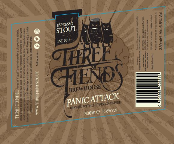 Panic Attack Espresso Stout 6.8% Case - Three Fiends Brewhouse