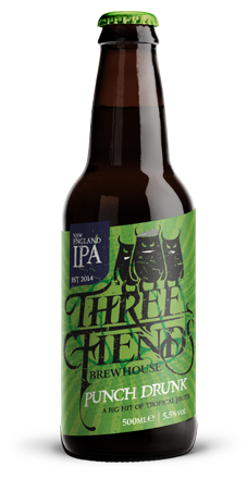Punch Drunk 5.5% New England IPA - Three Fiends Brewhouse