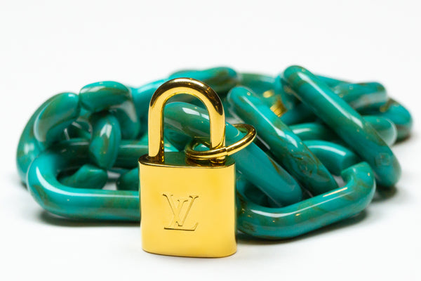 Turquoise Chokehold Thicker LV Necklace