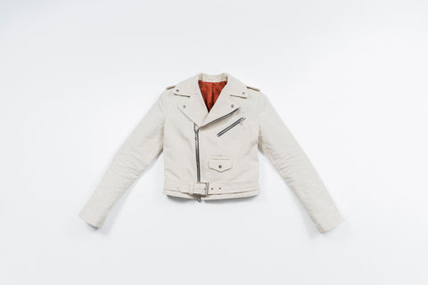 WMN'S LOST AT LAST CANVAS MOTO JACKET