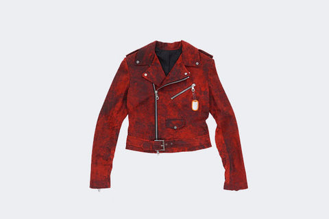 Women's Red Rosemont Moto Jacket