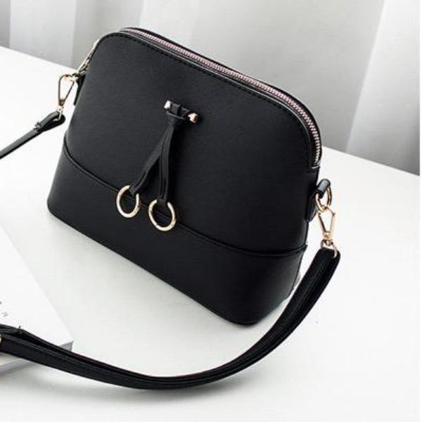 Classic Black Shell Cross Body Bag