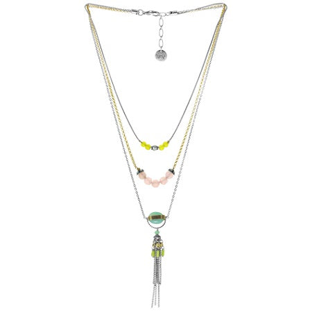 Lilou 3 Row Necklace