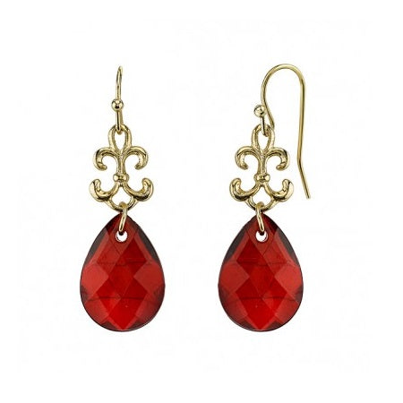 1928 Briolette Drop Earrings