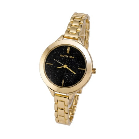 Ladies Galaxy Design Watch Gold