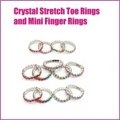 Stretchy crystal Toe & Finger Rings - Allure Bags and Essentials