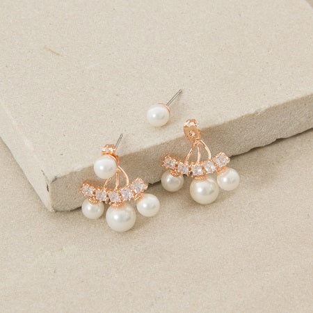 Diamante & Pearl Earrings