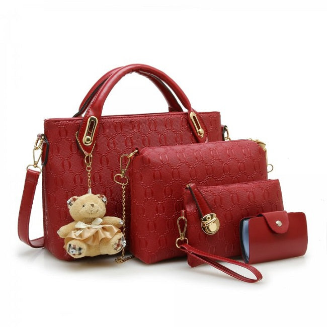 O Chain Pattern  4 Piece Handbag Set