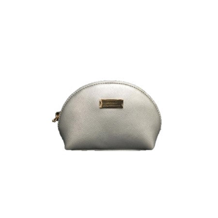 Beauty bag small silver