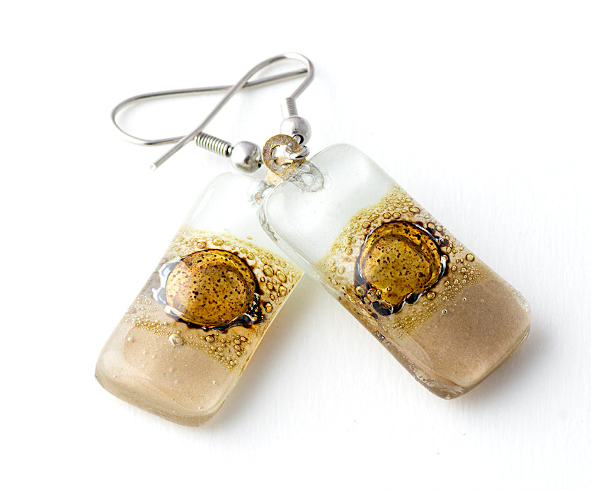 Rectangle Glass Earrings