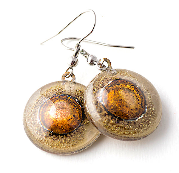 Round Glass Earrings
