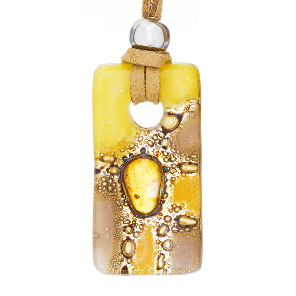 Mix Candy Rectangle Glass Pendant