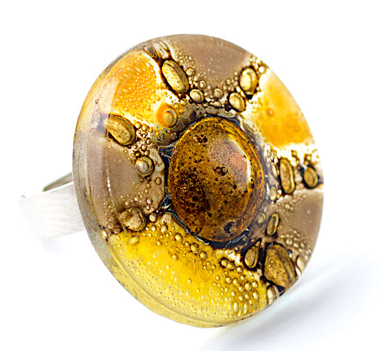 Yellow Round Ring