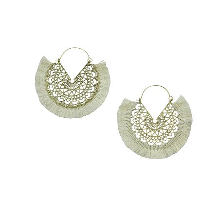 Arizona Bohemian Earrings White