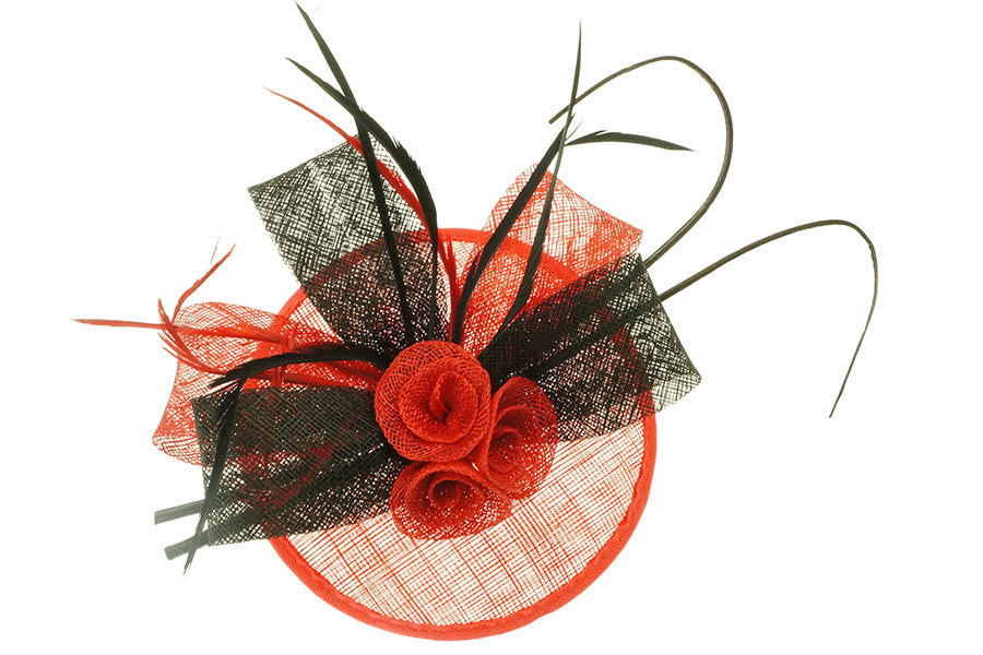 Fascinator Red - Allure Bags and Essentials