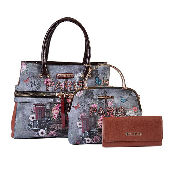 Paris In Fall Handbag Set - Nicole Lee