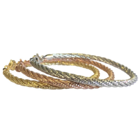 Five Strand Stering Silver Bracelet - Allure Bags and Essentials  - 1