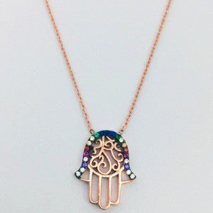 Hamsa Hand Necklace - Allure Bags and Essentials