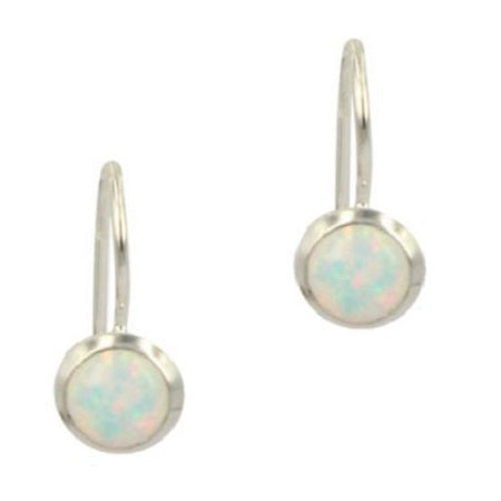 Amani White Opal Drop Earrings