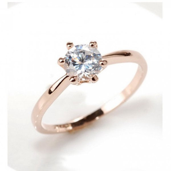 Simple Diamond Zircon Ring
