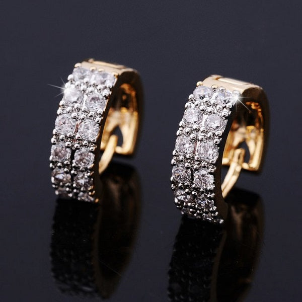 Zircon Double Row Earrings