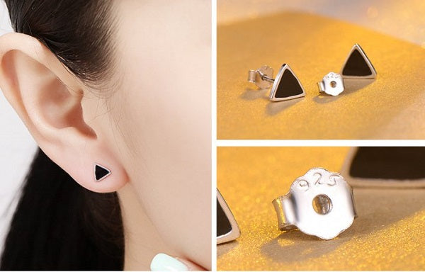 Studded Triangle Earrings