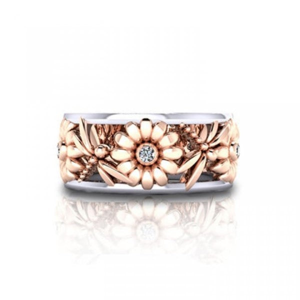 Sunflower Fashion Ring