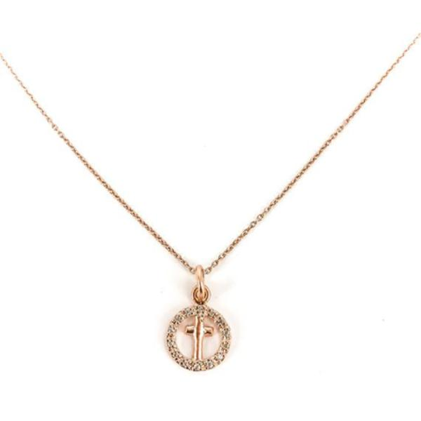 Protect Me: Cross In Circle Of Light Necklace
