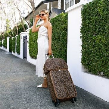 Leopard Luggage Bag