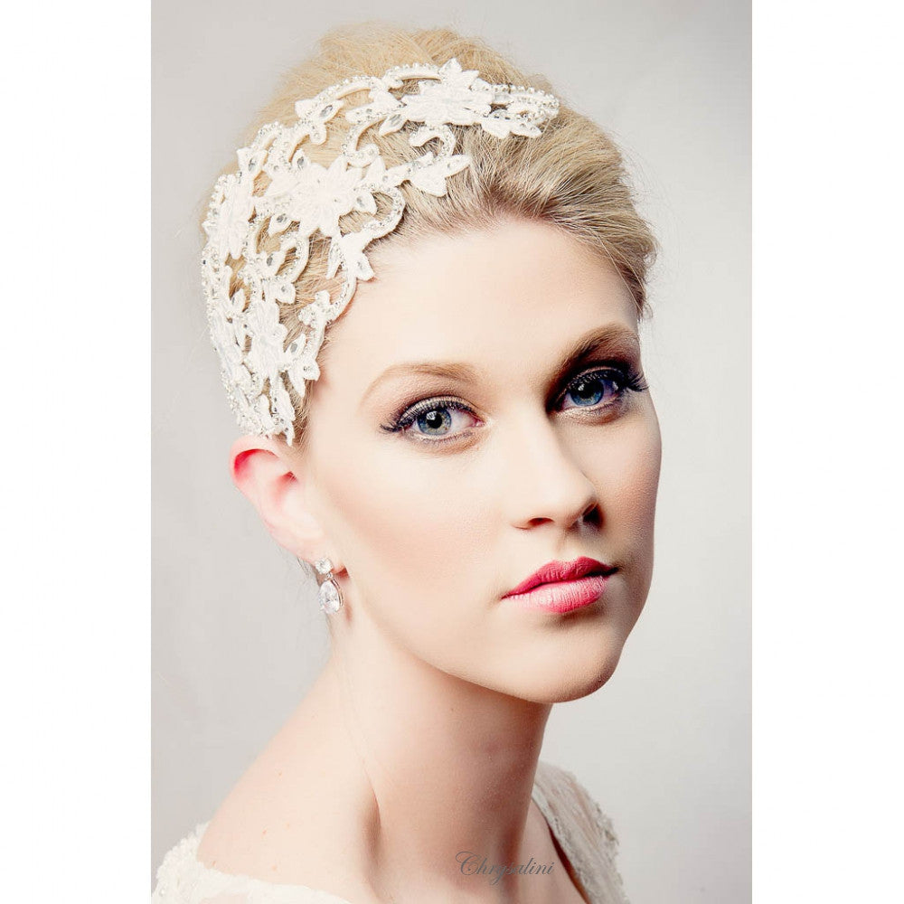 Becky | Embellished Lace Headpiece - Allure Bags and Essentials  - 1