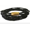 Jet Black Crystal Bracelet or Necklace - Allure Bags and Essentials  - 1