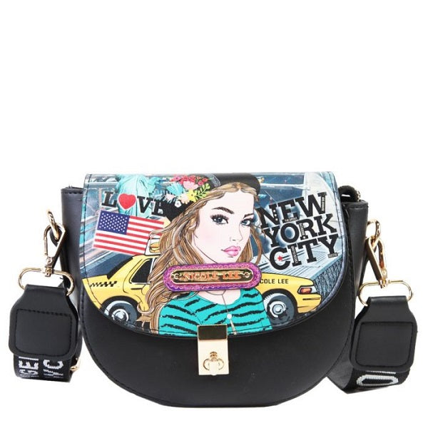 Saddle Printed Crossbody Bag
