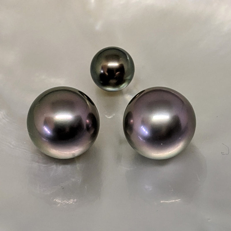 Tahitian Aubergine Twins 12.9 mm