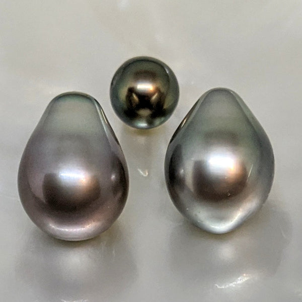 Tahitian Drop Twins 11 mm