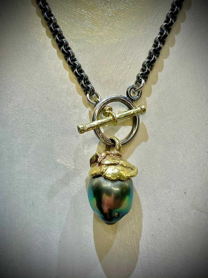 Green baroque necklace by Tai