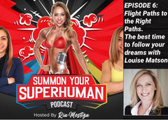Louise M shoes Louise Matson speaks with Ria Mestiza on Summon Your Superhuman Podcast Series