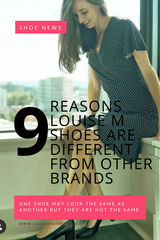 9 reasons why Louise M shoes are better than other shoe brands. Clients have given these benefits in reviews and interviews.