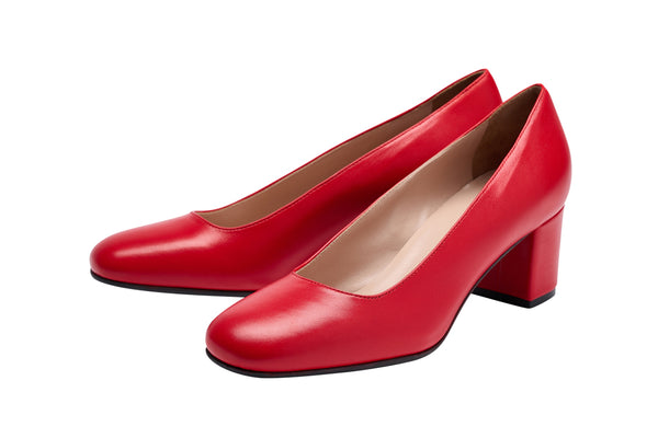 Louise M Block Heel - RED