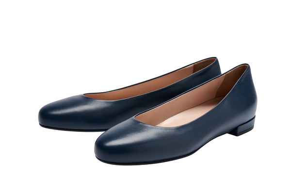 Louise M Classic Flat  - NAVY