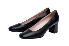 Comfortable Black Block Heel. Best Airline Cabin Crew shoes. Worn by Virgin Australia and Qantas