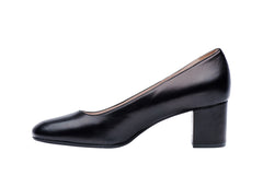 Mid block heel for airline flight attendant and corporate women. Most comfortable shoes.
