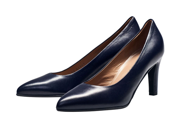 Louise M Point Toe Court - Navy Blue