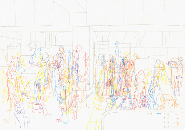 Time Lapse (Melbourne Airport Security), 2006. Briony Barr