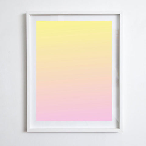 Fade - Yellow to Pink, 2015. Ed Granger