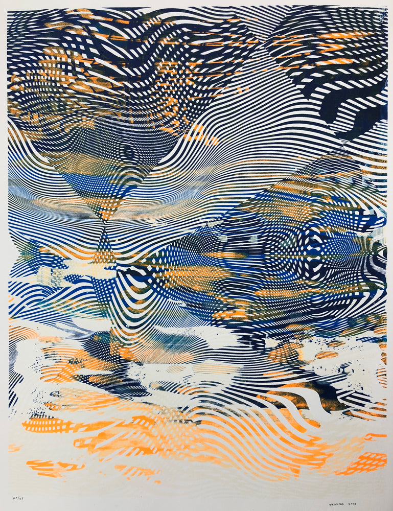 Untitled Screenprint OB II, 2018. Chris Trueman